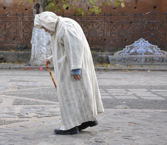 Traditional clothing, the Djellaba, here seen in Chefchaouen.