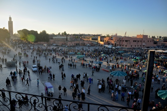 Jemaa el-Fna at sundown.